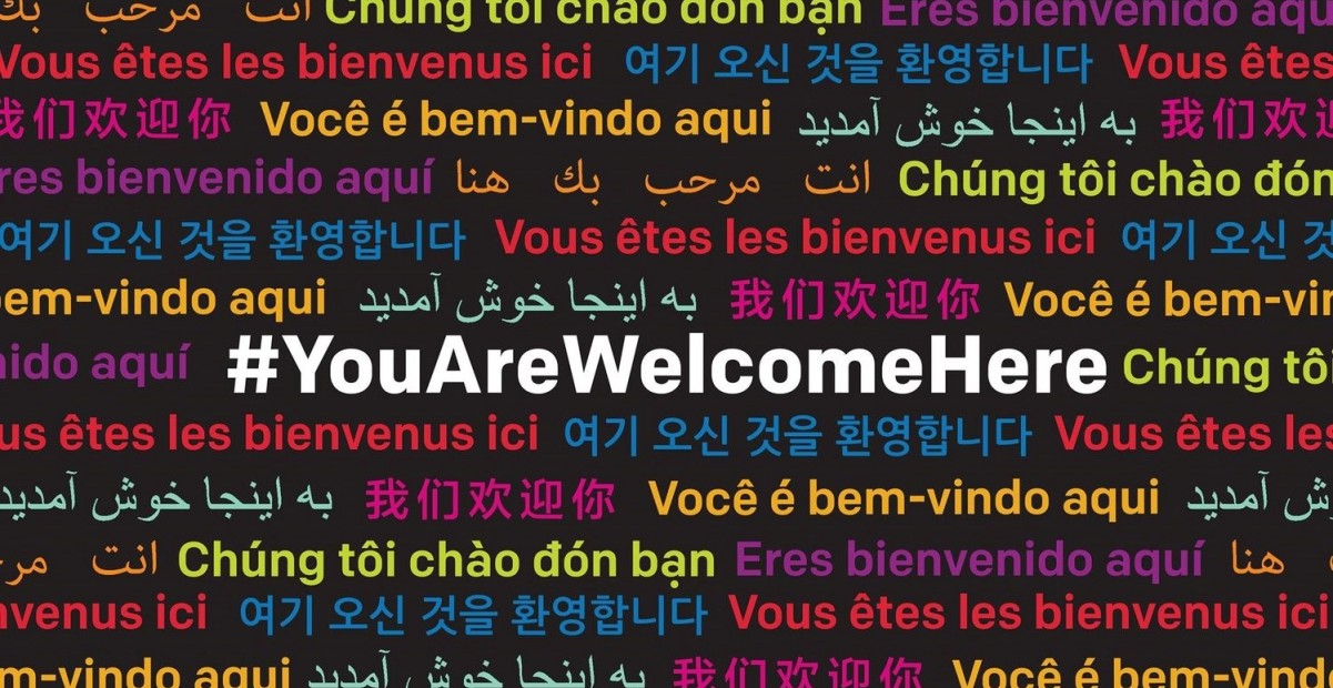 #YouAreWelcomeHere graphic